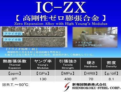 高剛性ゼロインバー合金「IC-ZX」