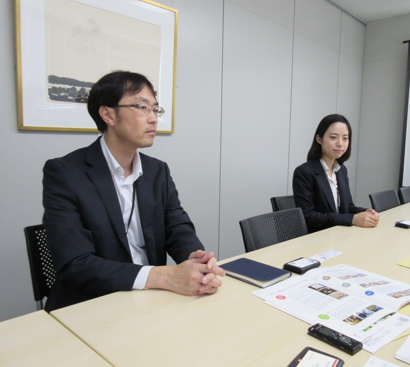 人事部 石井孝弘さん、田中美咲さん