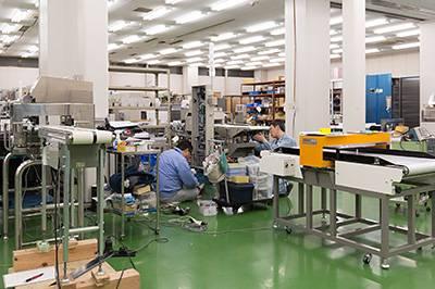 製造工場の内部
